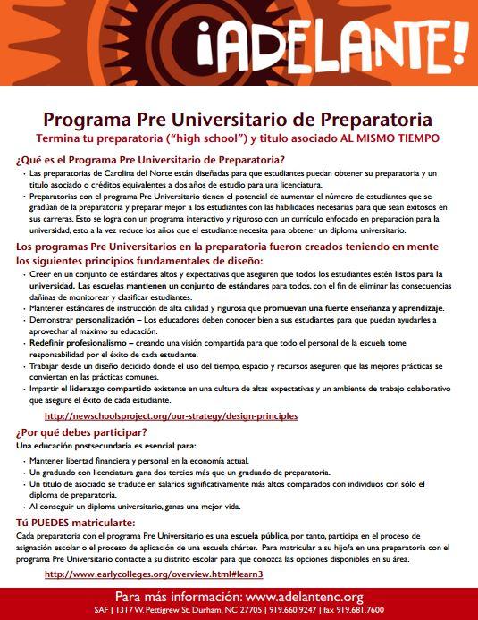 Programa Pre Universitario de Preparatoria cover