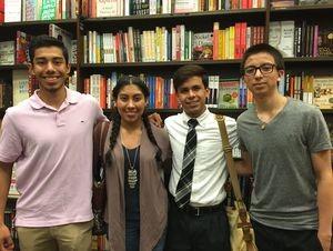 Guilford County students Luis Ruiz De Leon, Maria Cortez-Perez, Fernando Jimenez, and Saul Rodriguez. Credit: Susan Ladd